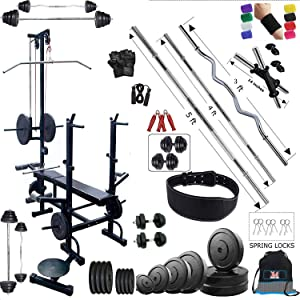 BodyFit 20 In 1 Bench Home Gym Workout Exercise Sets