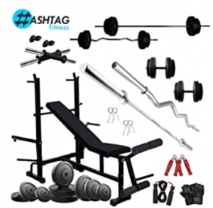 HASHTAG FITNESS Home Gym Equipment Combo 50 Kg