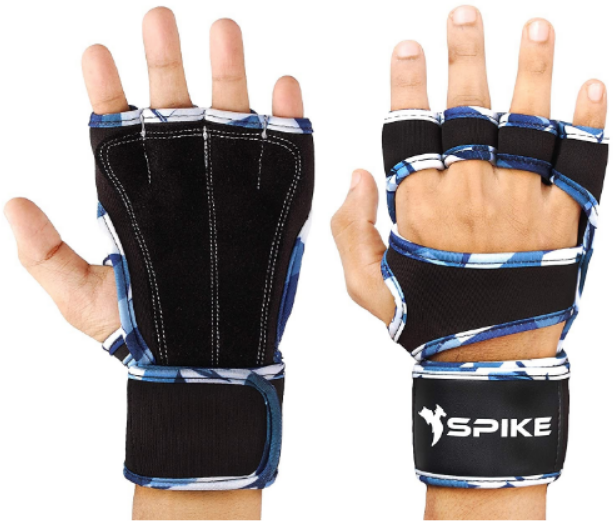 Spike Leather Fitness Gym Gloves