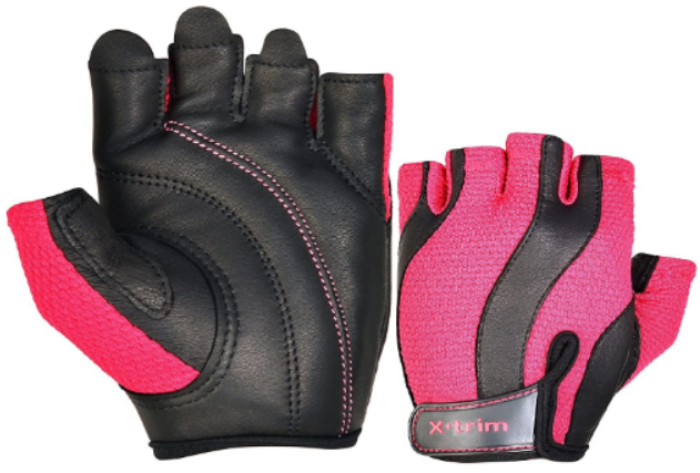 XTRIM AEGIS Women's Leather Gym Fitness Training Gloves