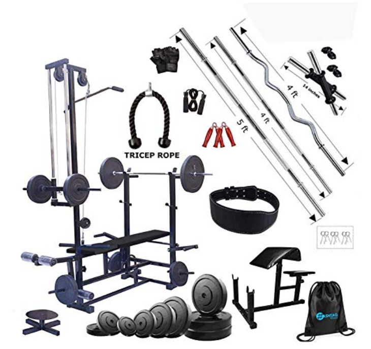 HASHTAG FITNESS 20 in 1 Bench Home Gym Equipment 60 Kg with Preacher Bench Home Gym Set