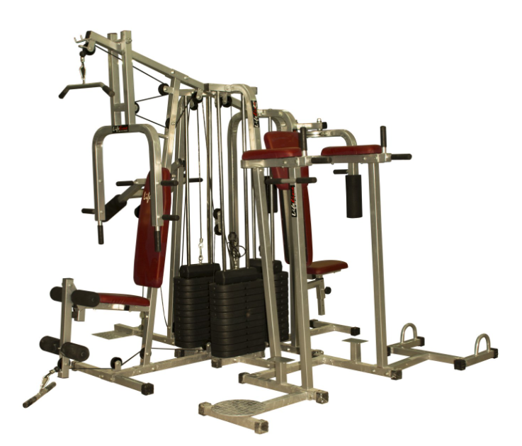 Lifeline 6 Station Home Gym with 3 Weight Lines