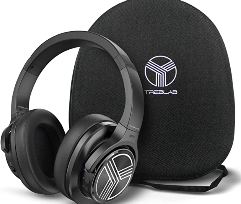 TREBLAB Z2 Over Ear Workout Headphones with Microphone